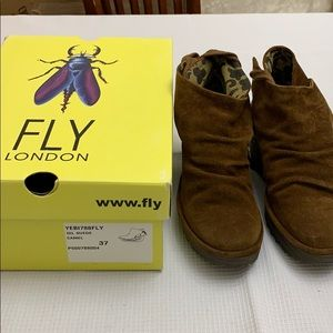 Fly London Yebi Camel Bootie 7 New in Box